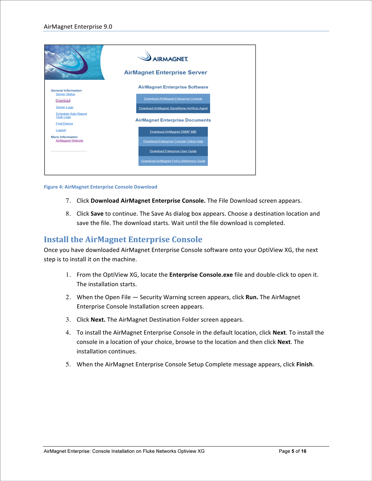 software user guide sample page